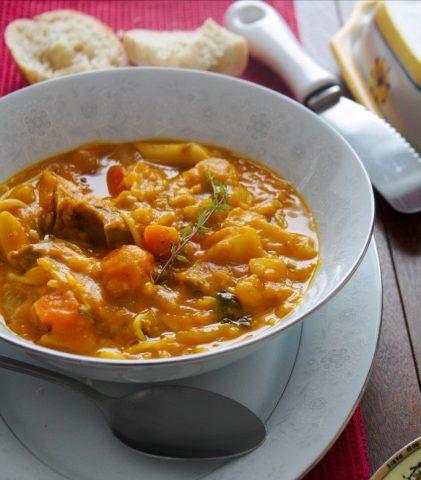 Soupjoumou | Soupe au giraumon haïtienne Marianne Lefebvre | Nutrition spécialisée en nutrition internationale