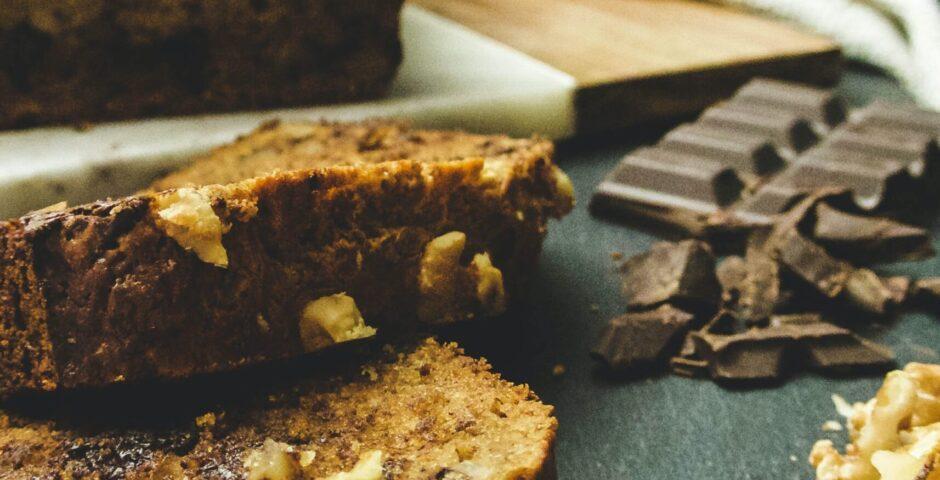 Pain aux bananes et chocolat santé