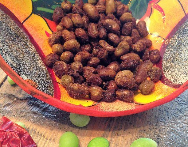 Edamames rôtis, saveur Mexique