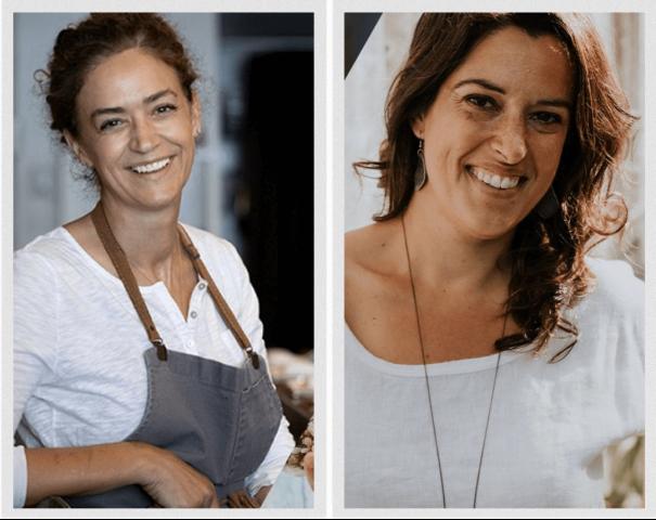 baladodiffusion à table avec le monde Fisun Ercan et Marianne Lefebvre