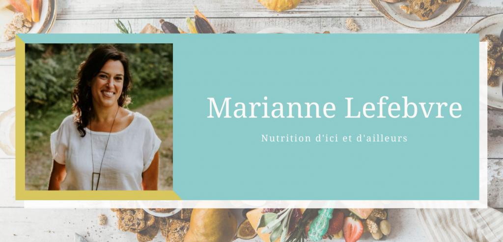 marianne lefebvre nutrition d'ici et d'ailleurs